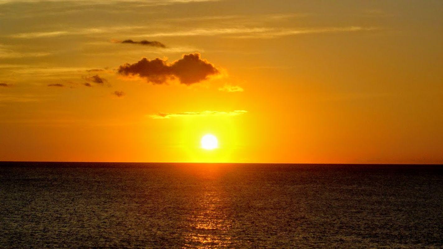 Sunset on Grand Anse Beach in Grenada