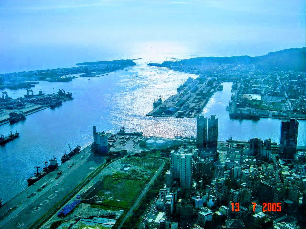 The harbor or Kaohsiung, Taiwan