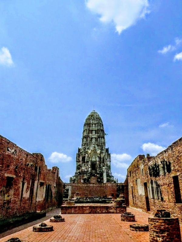 The ancient temples in Ayutthaya, Thailand