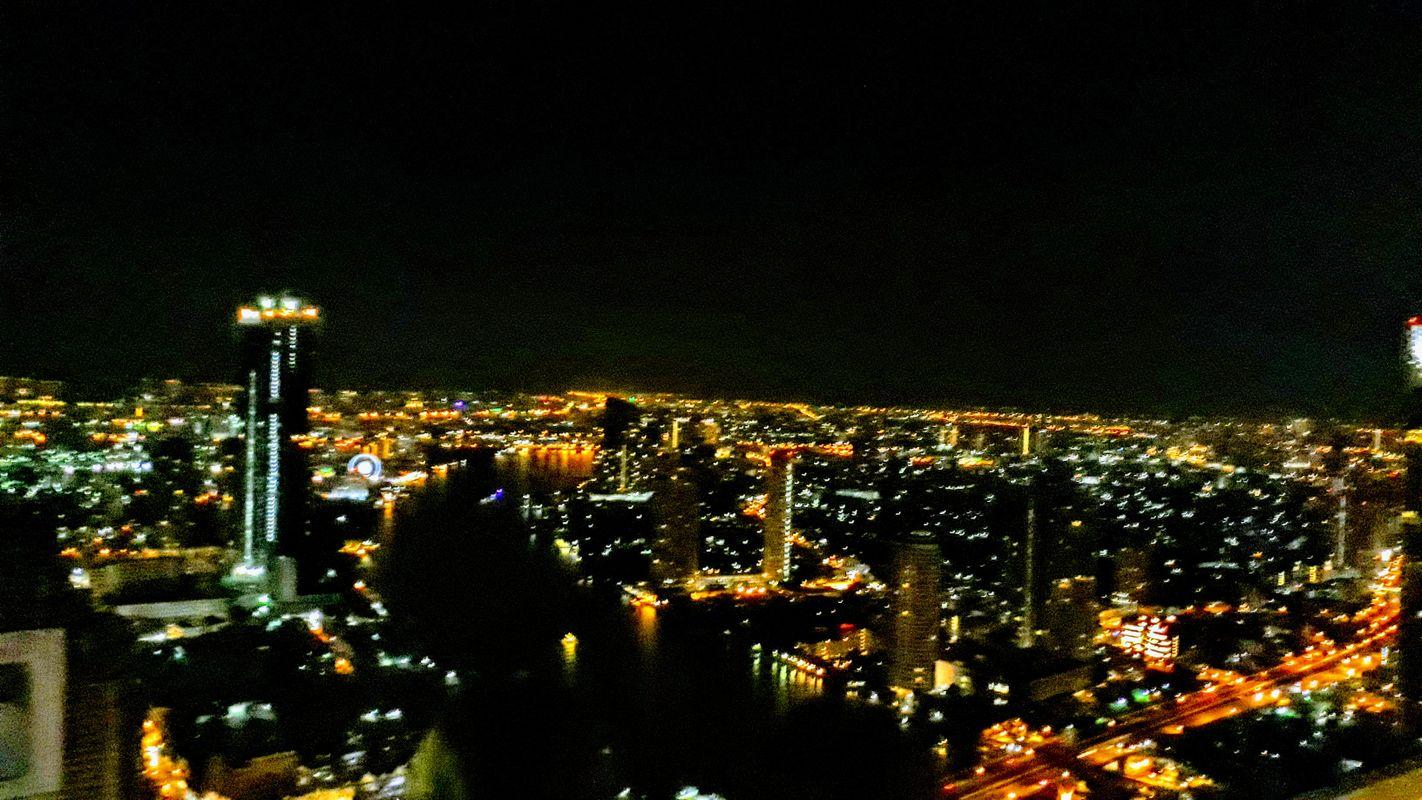 The Bangkok skyline by night