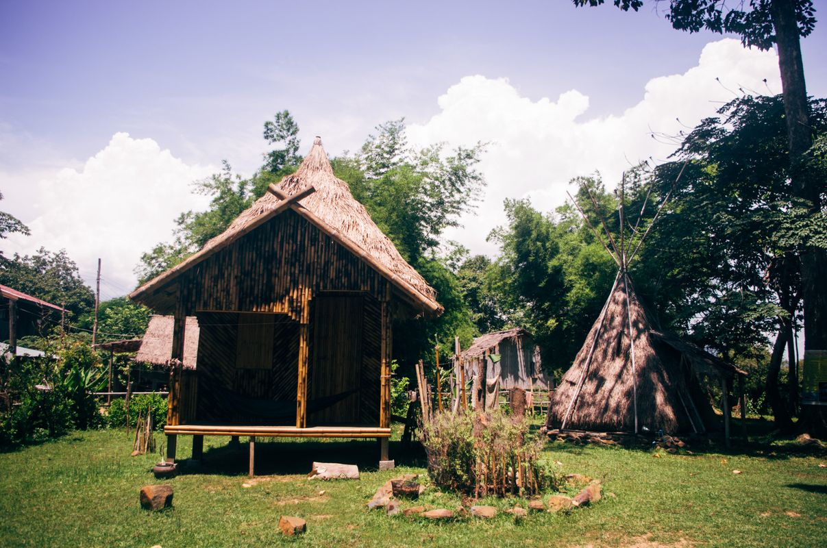 Teepee house in dondet island