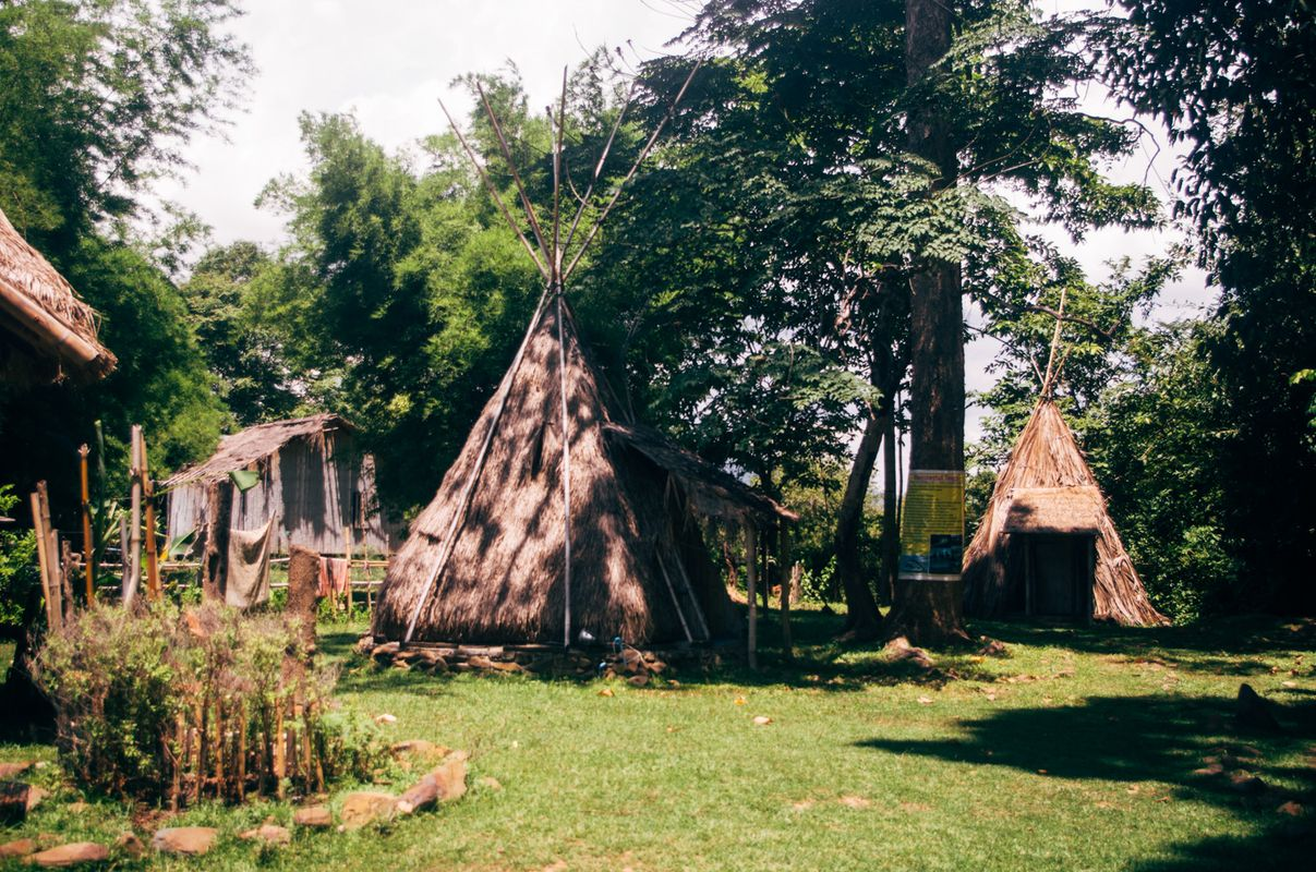 Teepee house in in dondet island