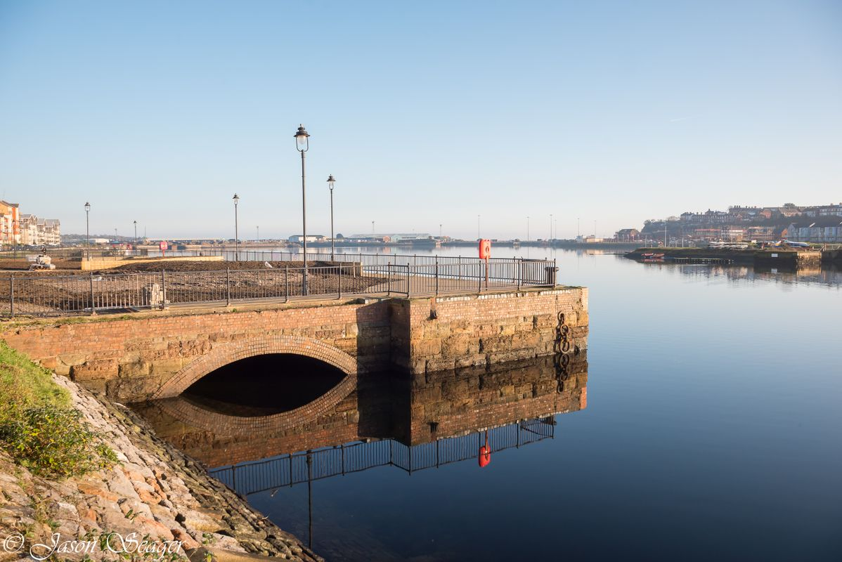 Reflections in Barry Docks