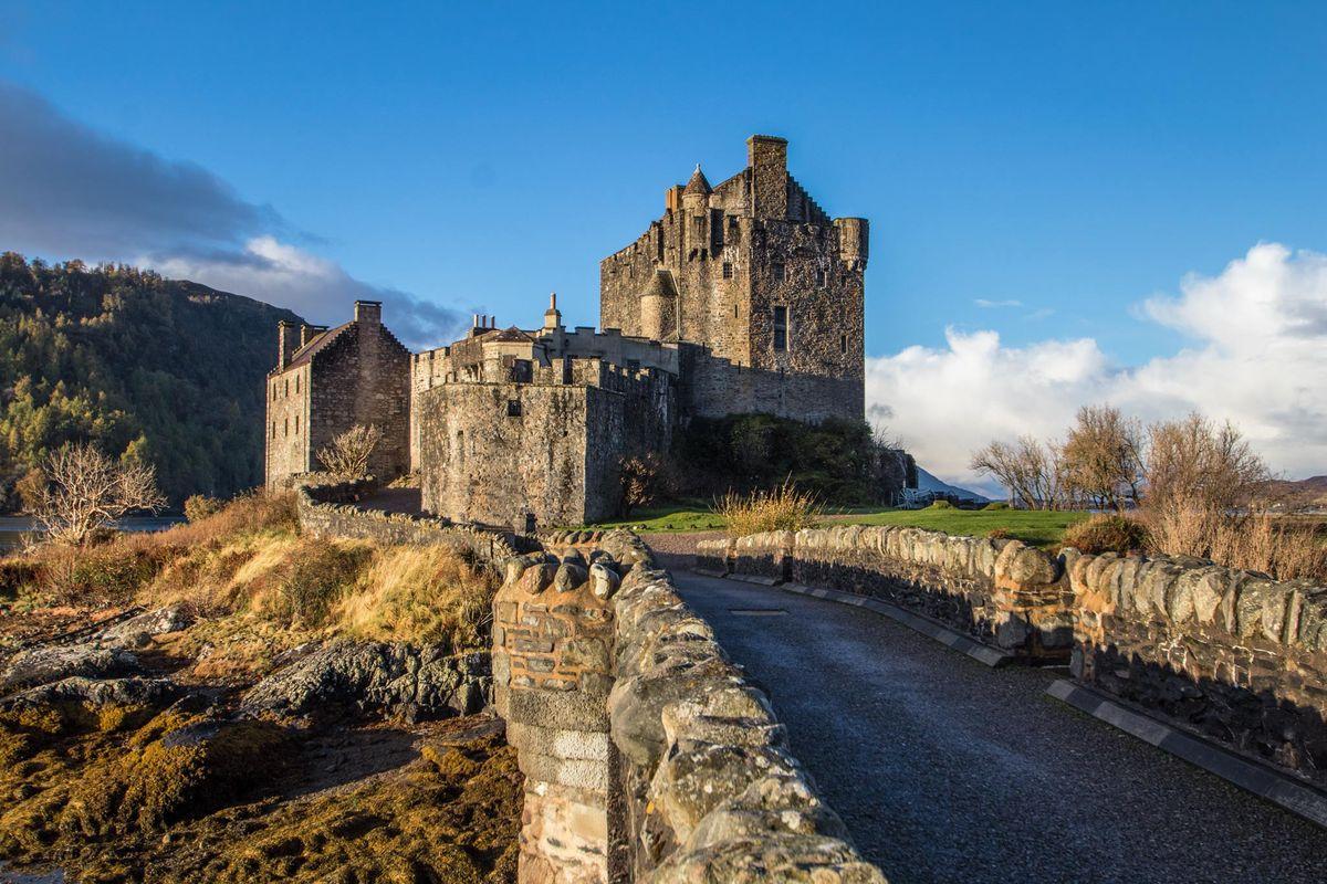 Early morning light on Eilean Donan Castle.