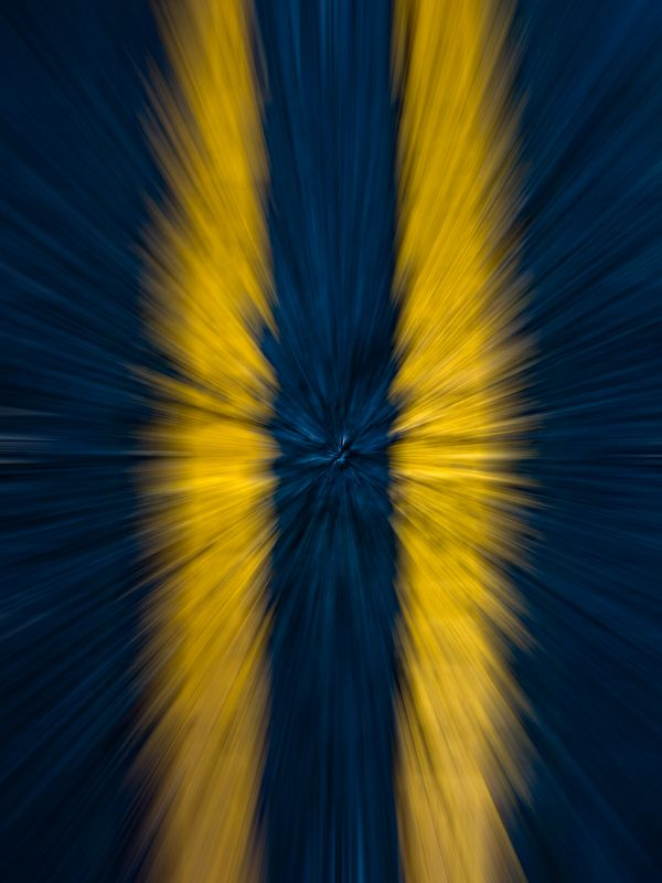 Yellow Lines Moving Fast on Dark Blue Background