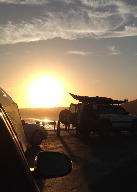 Surfboards and Sunset