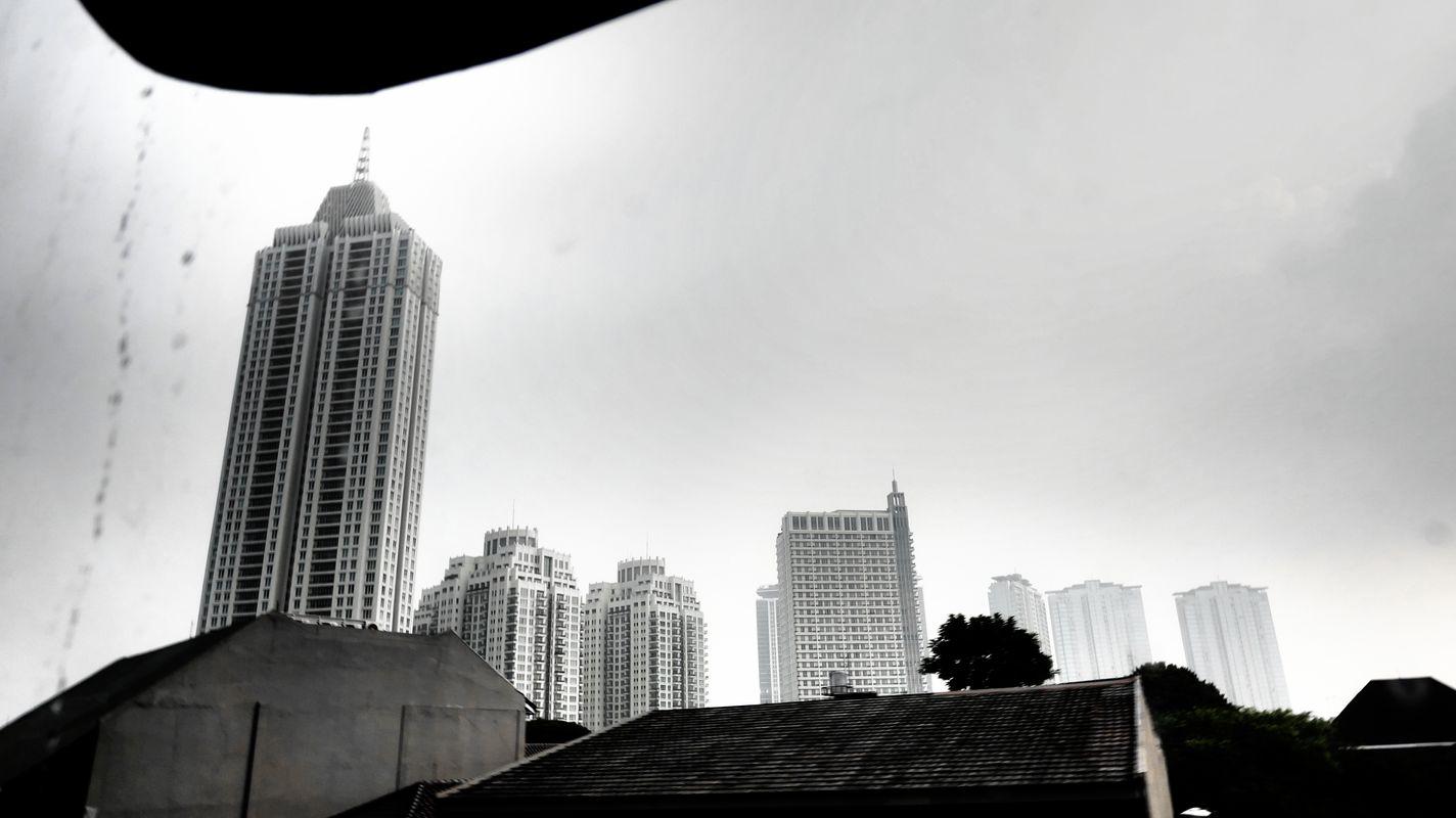 Jakarta from window