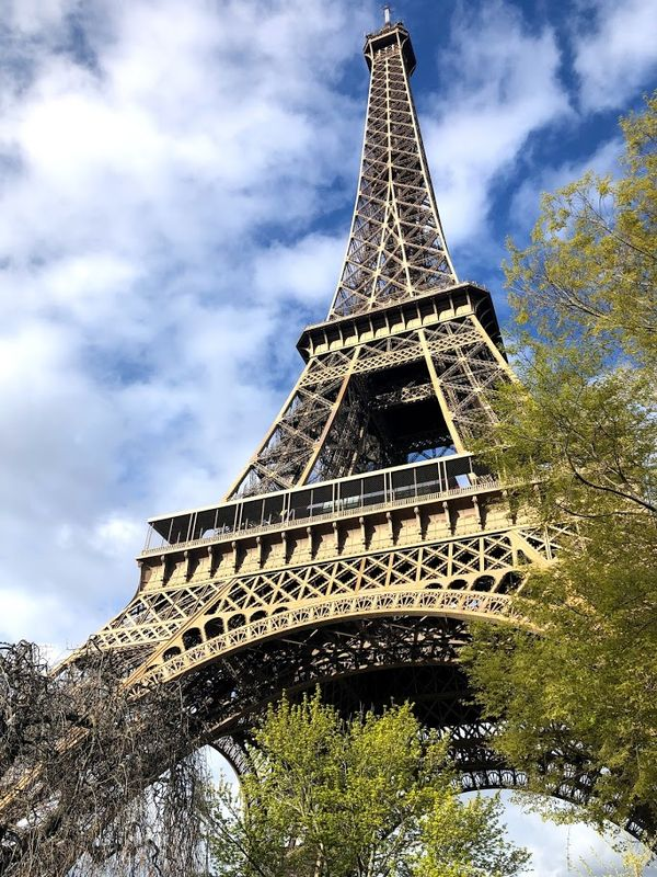 Close-Up of the Eiffel Tower