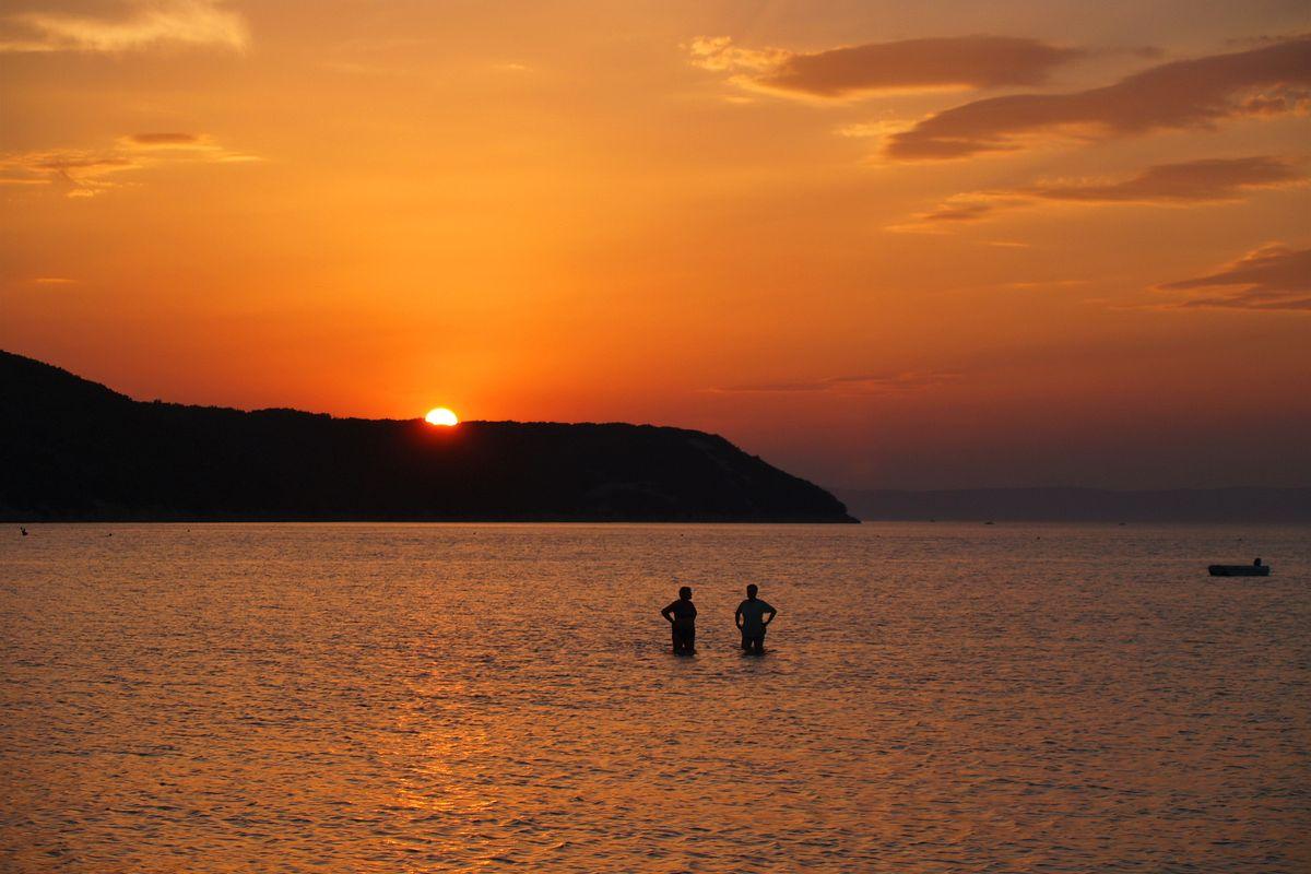 Sunset at the sea in Croatia