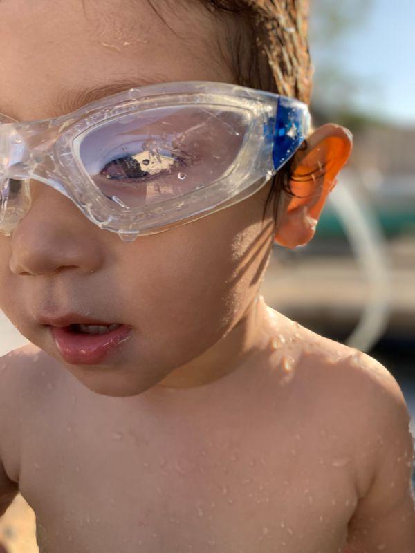 Goggles portrait