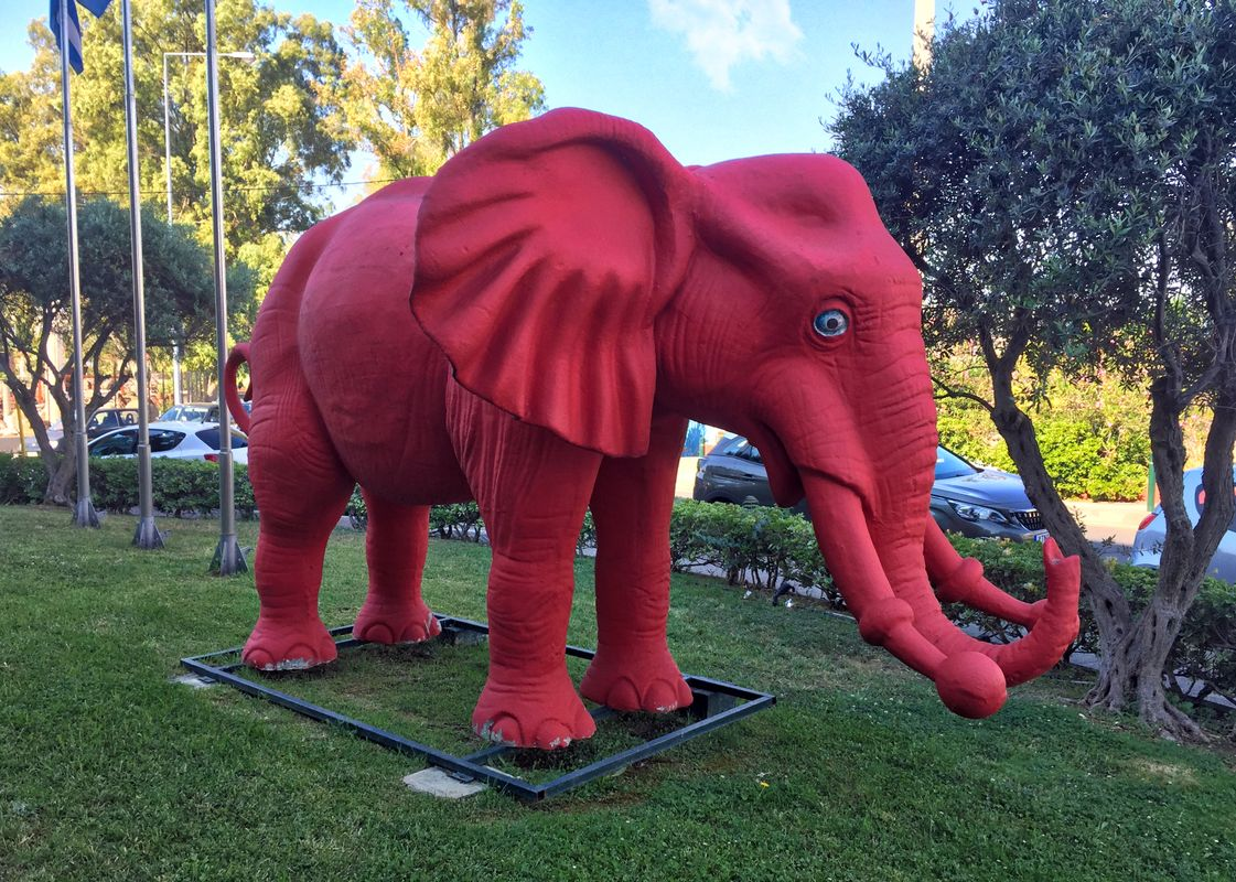 Red, OK, it is. A Mammoth or an Elephant though?