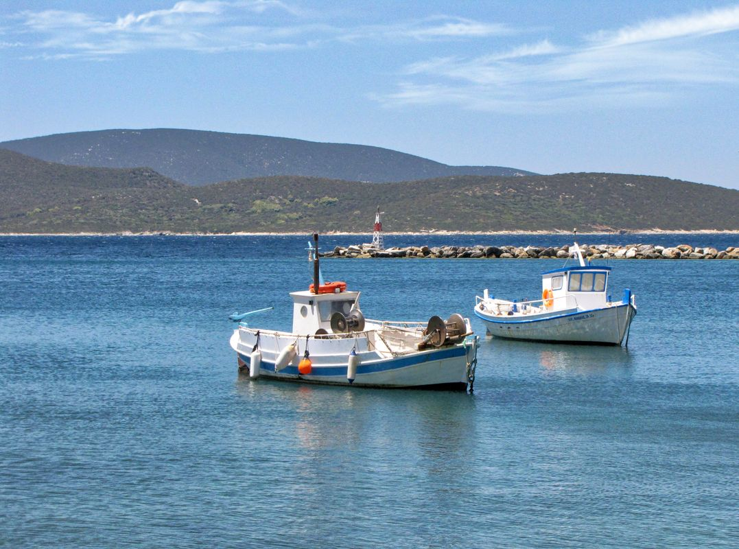 Fishing boats resting