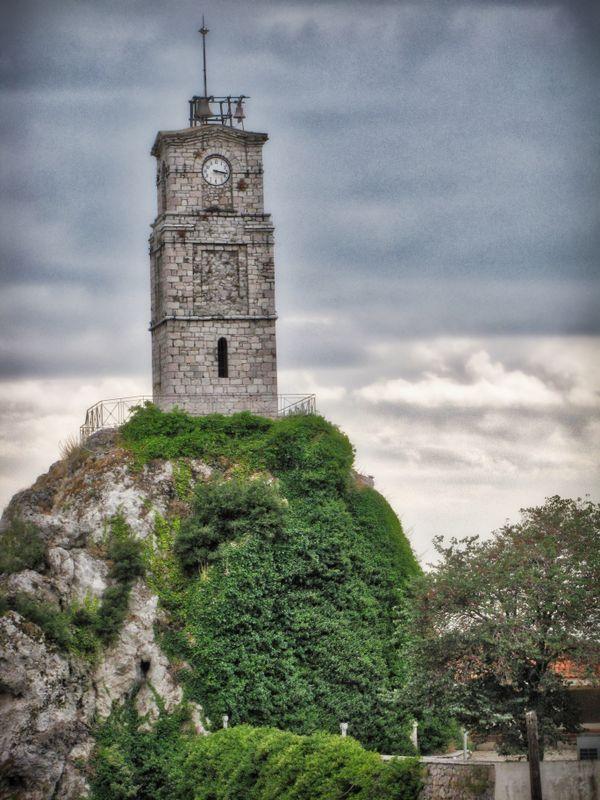 Arachova's clock tower