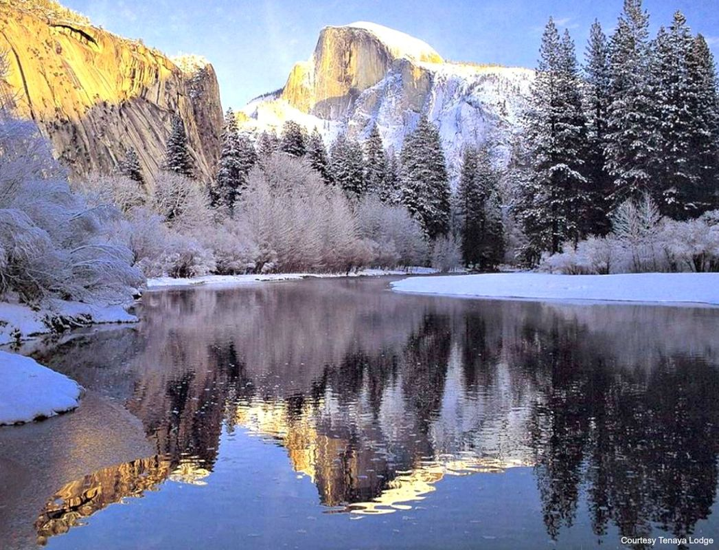 Merced-River-with-Half-Dome-snow-feature