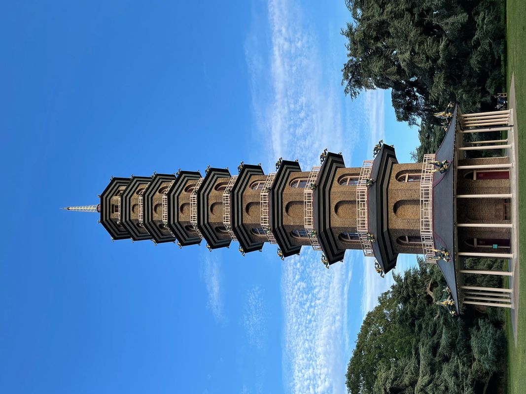Kew Gardens  The Great Pagoda yesterday Kew Richmond England