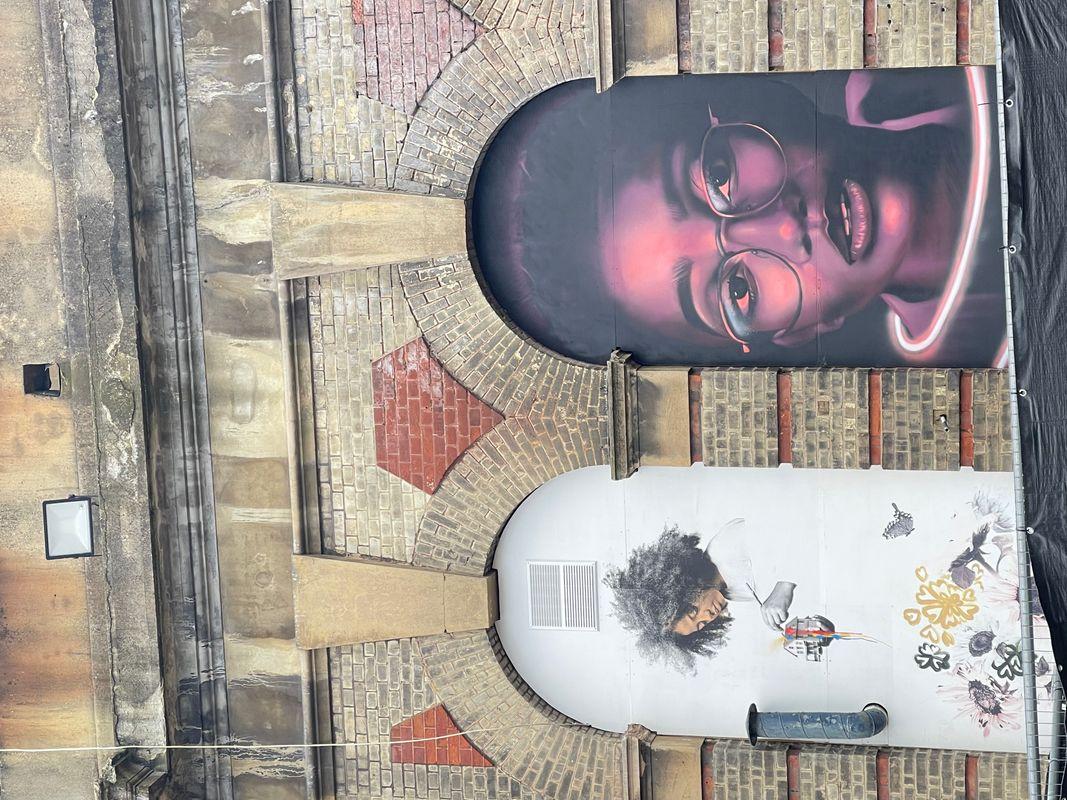 Alexandra Palace Wall murals ..Artists Walk 2021