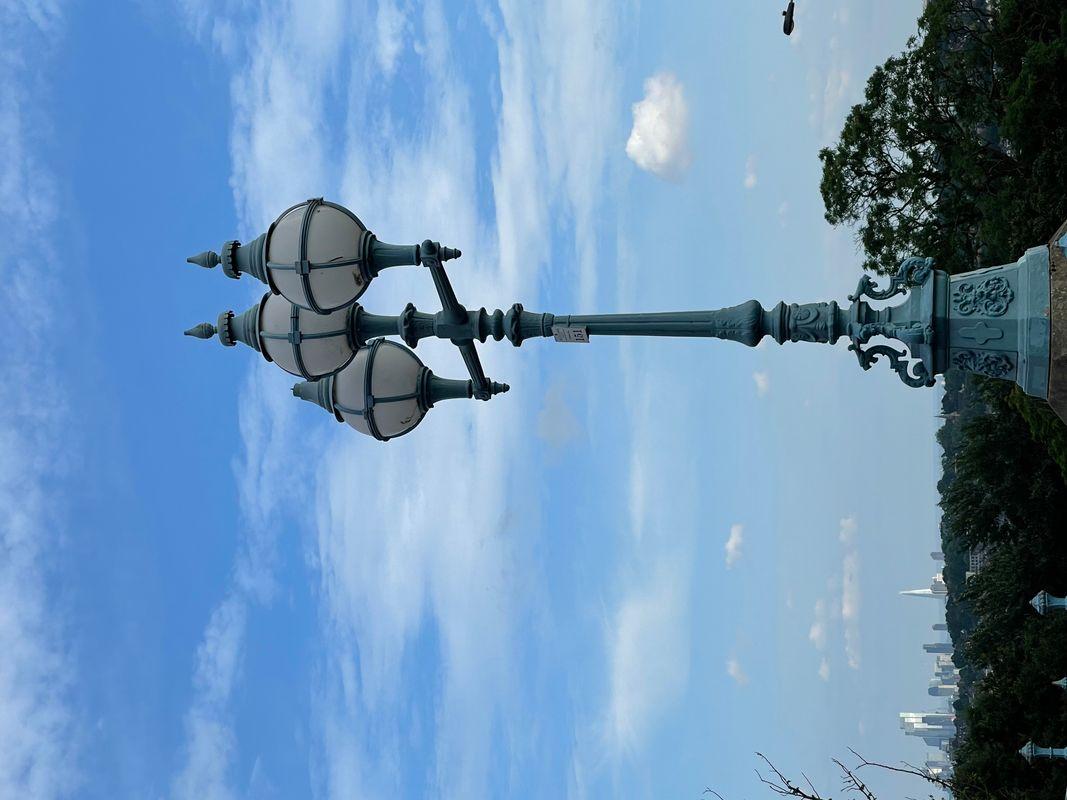 Victorian iron lamp post Alexandra Palace