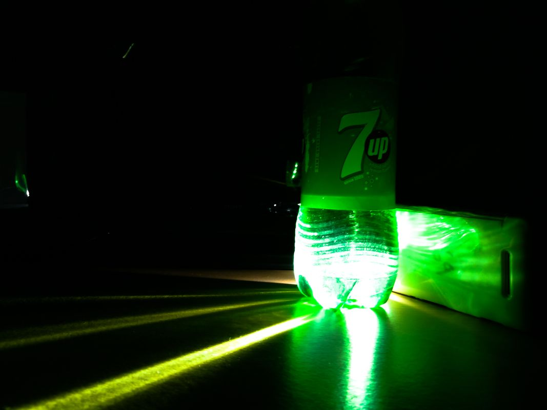 Green Light Streaks Night Smartphone Photography