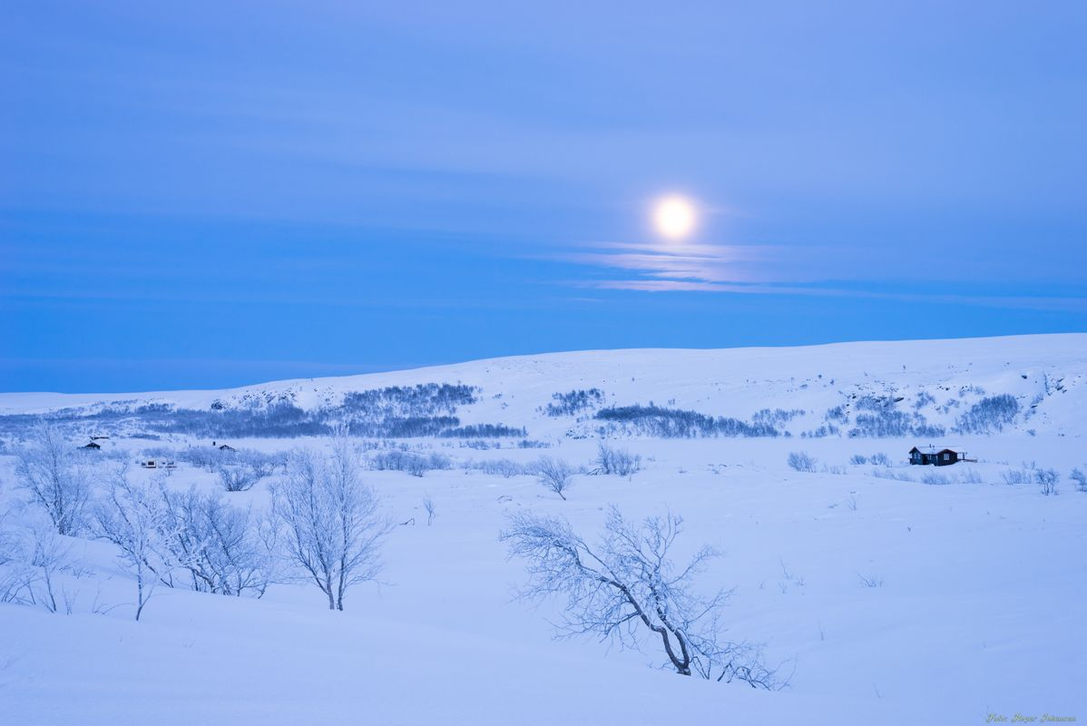 Blue hour in the arctic