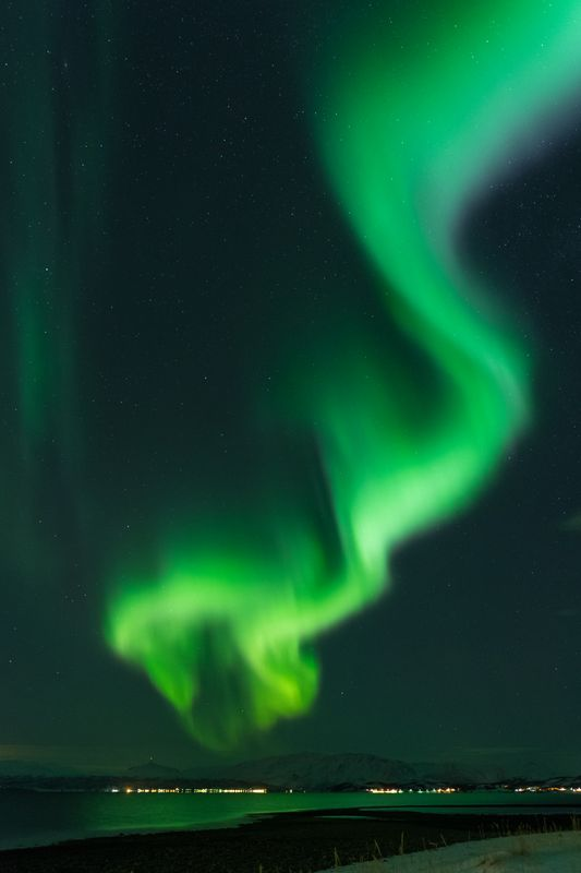 Northern lights Finnmark Kviby