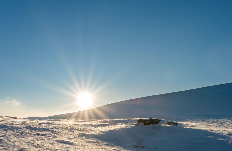 Sunshine at mountain top