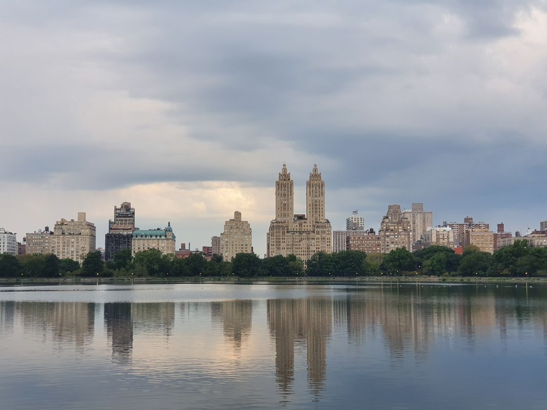 REFLECTION OF THE BUILDINGS / CENTRAL PARK,NEW YORK
