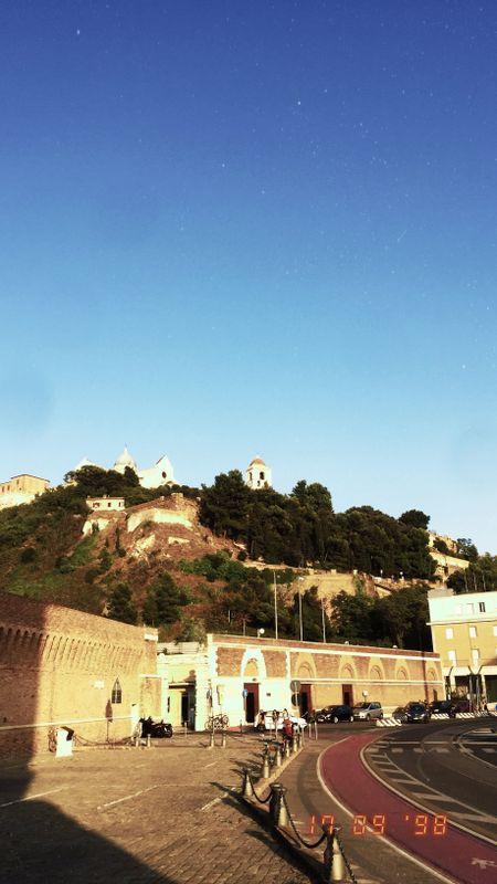 The view of the Guasco Hill and the Cathedral of San Ciriaco from the arch of Trajan, in Ancona - La visuale del Colle Guasco e del Duomo di San Ciriaco dall'arco di Traiano, in Ancona