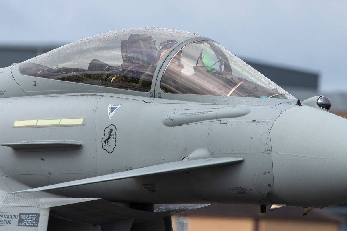 Eurofighter close up by Clive Wells