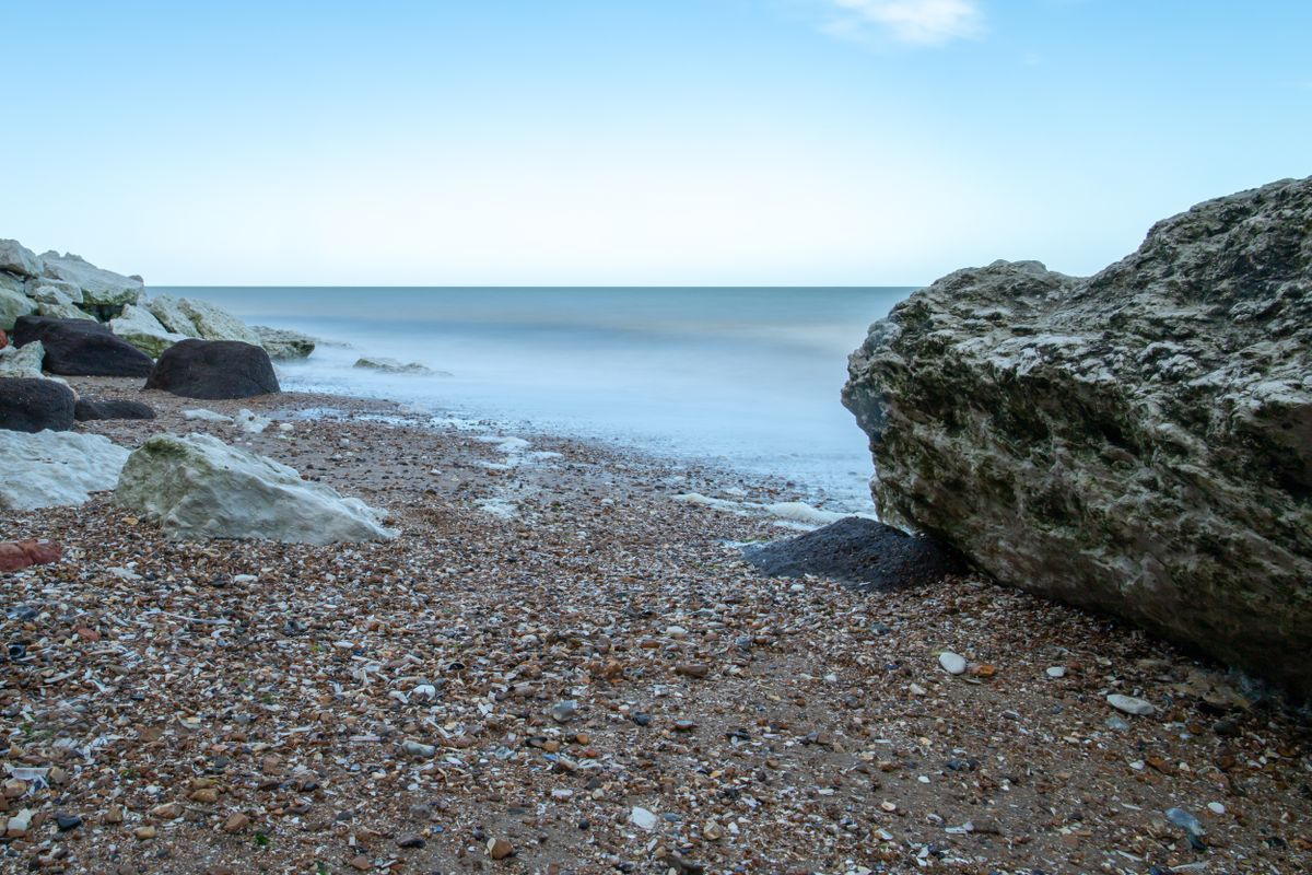 Smooth sea with long exposure by Clive Wells