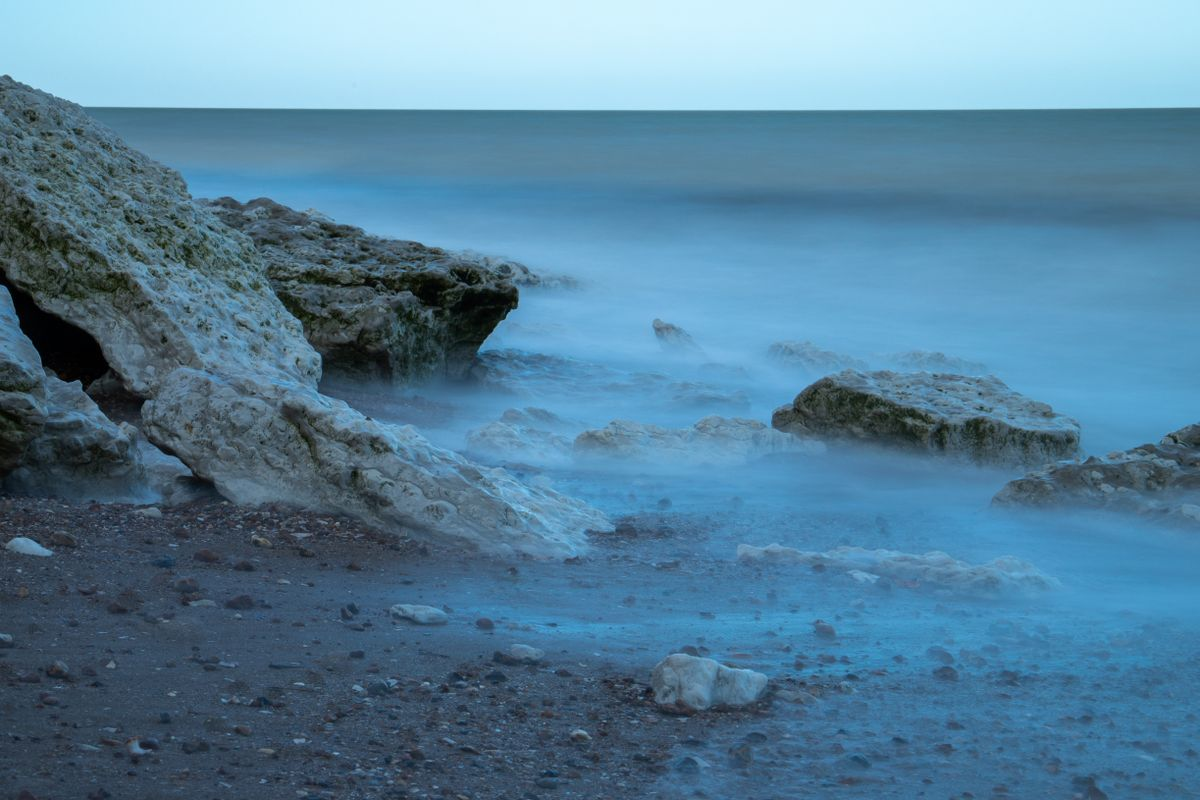 The tide coming in taken on long exposure by Clive Wells