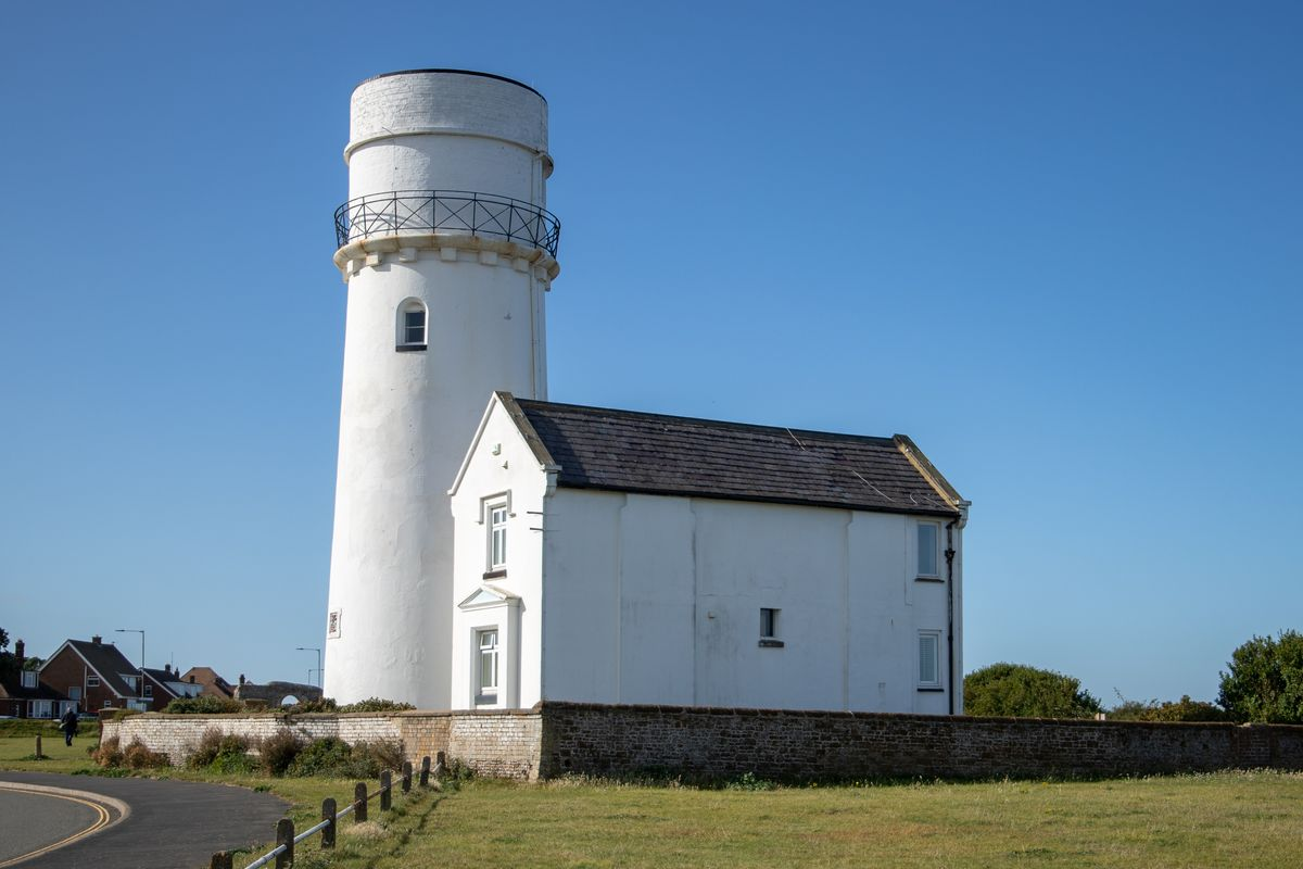 Side view of lighthouse by Clive Wells