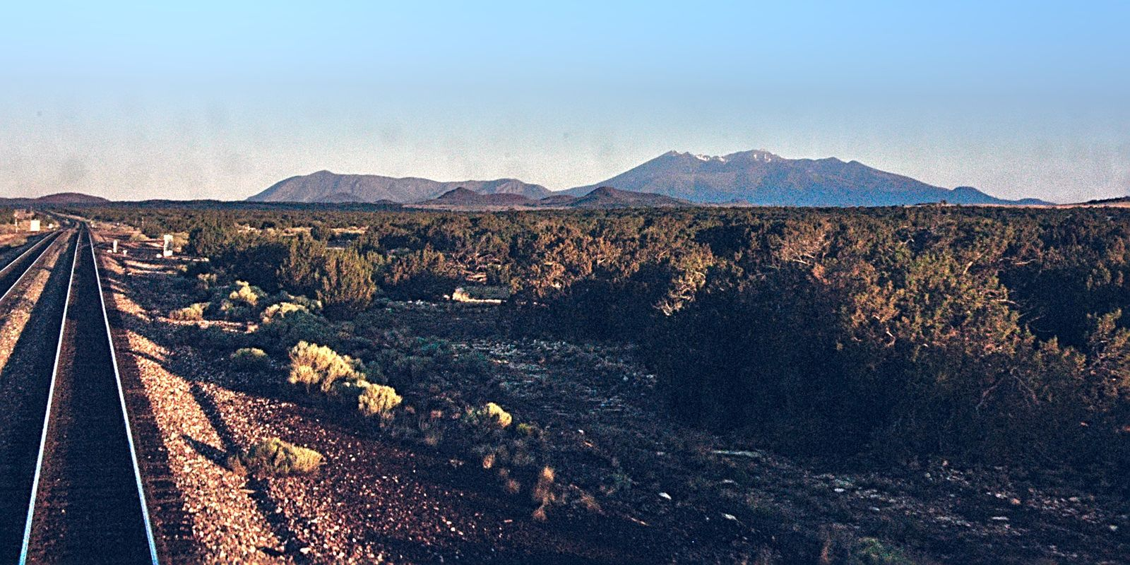 San Francisco Peaks east of Flagstaff AZ USA
