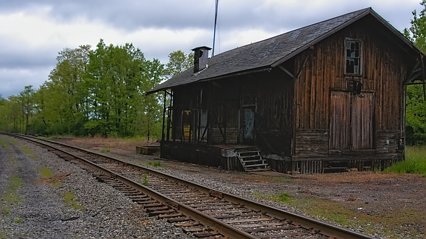Old-time Train Station at Watkins Glen