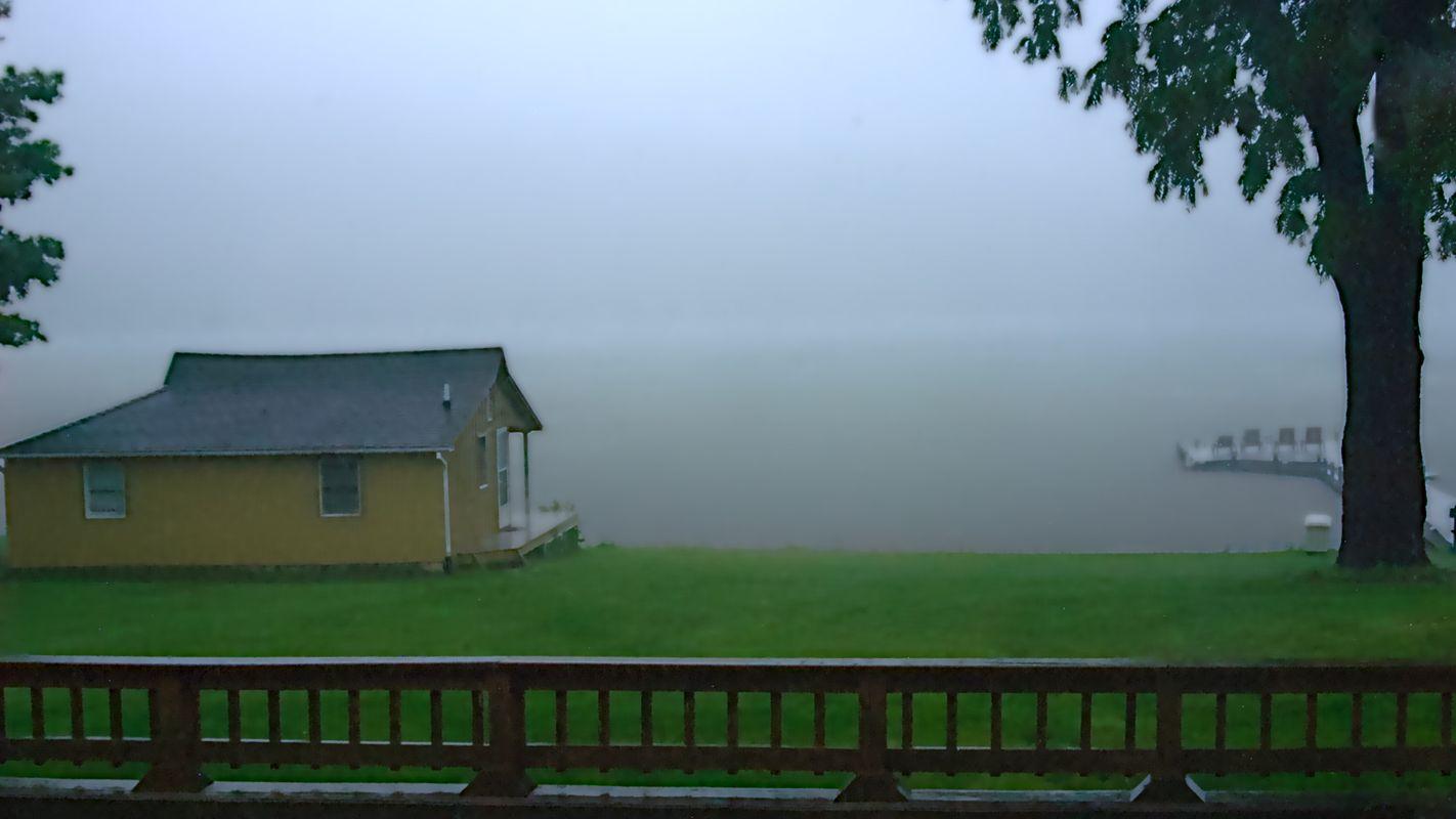 Foggy morning at the lake