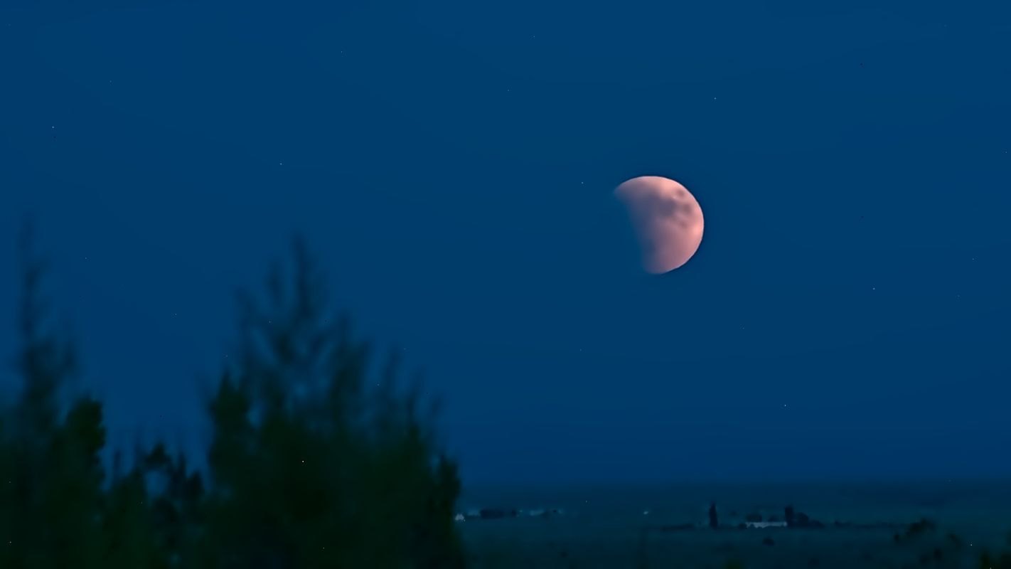 Lunar eclipse over the ranch