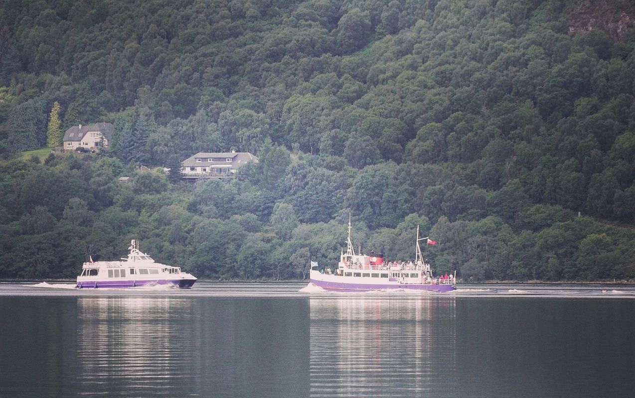 Rush hour at loch Ness