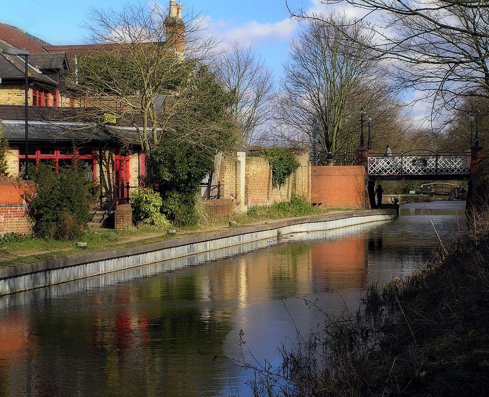 Basingstoke canal at St Johns, Woking