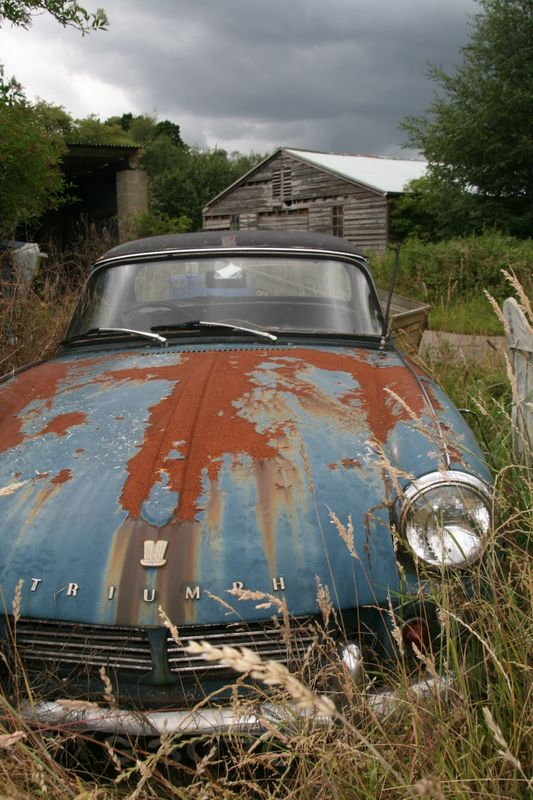 A once loved Triumph Spitfire