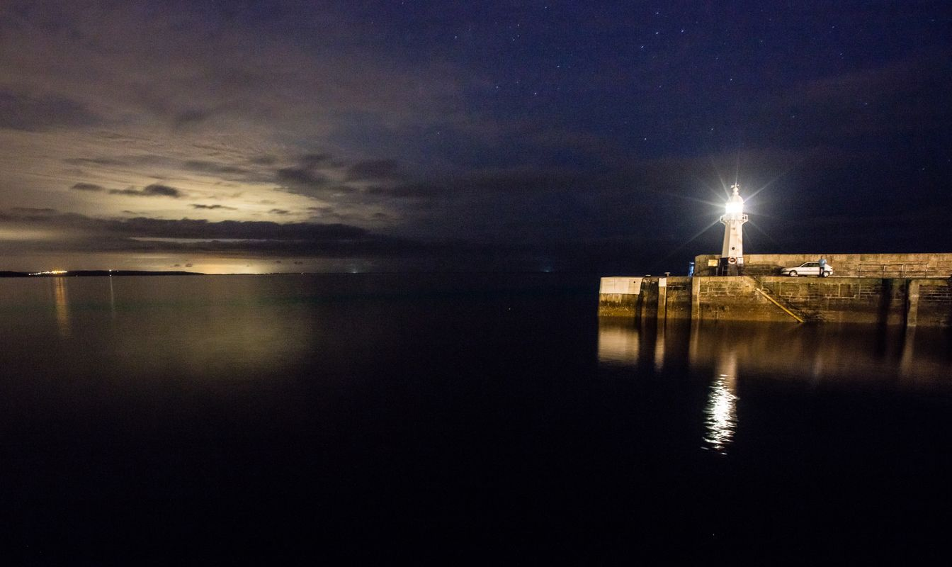 Harbour wall at Mevagissey