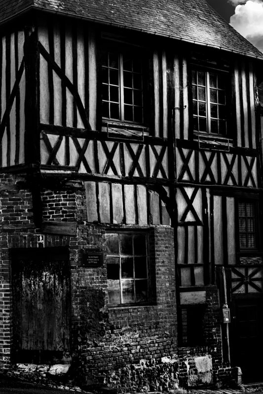 Half-timbered houses in Normandie