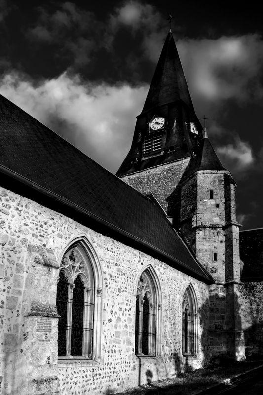 Church in village in Normandy