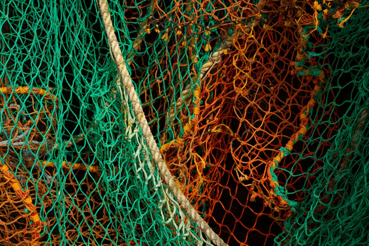 Colourful old fishing nets at Leigh-on-Sea      5024