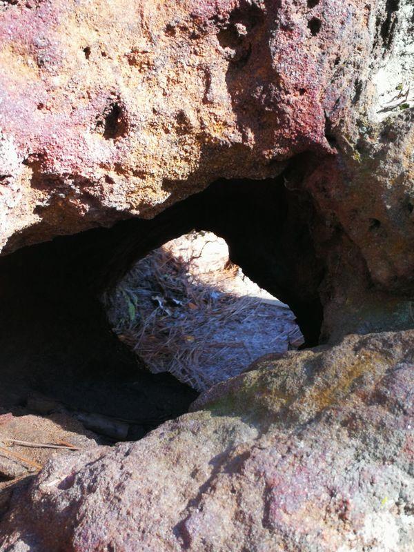 A big hole.