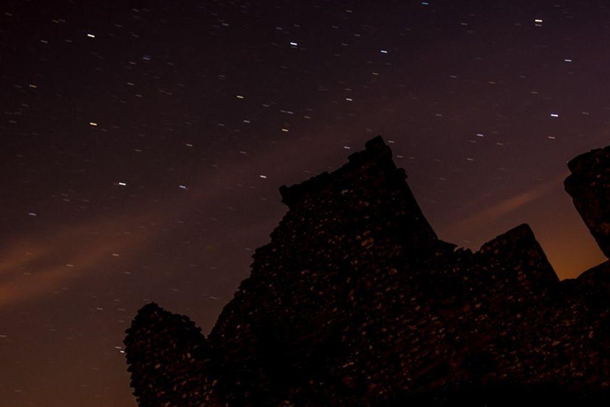 Star trailes at knolton church dorset