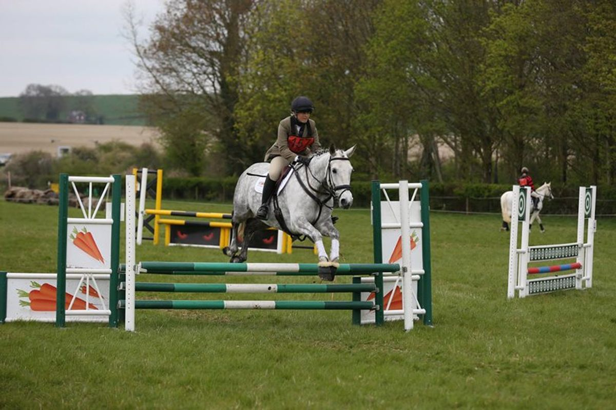 Horse jumping at British eventing