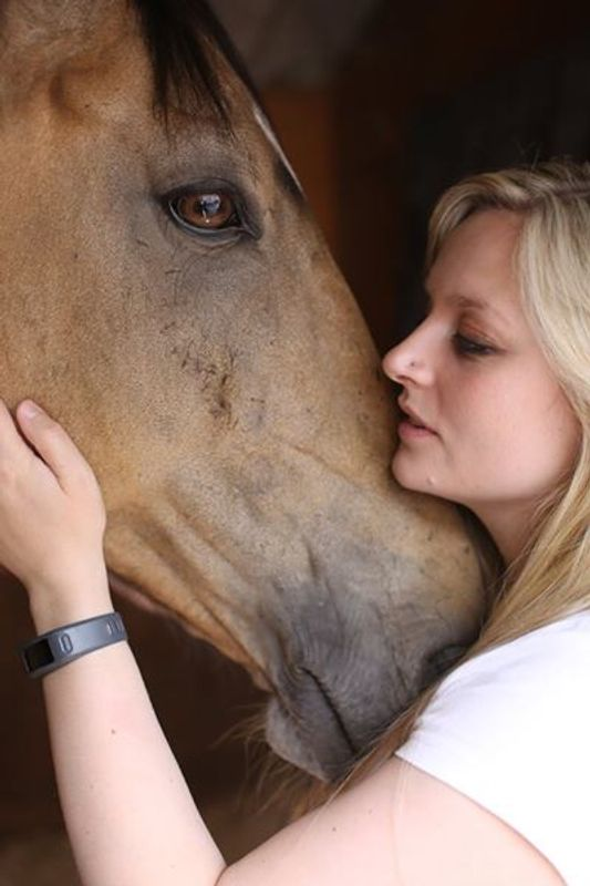Horse and his owner