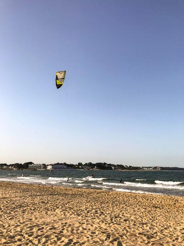 Kite surfer at studland beach