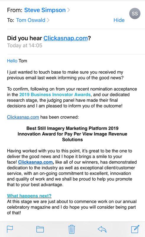 Business innovator awards 2019