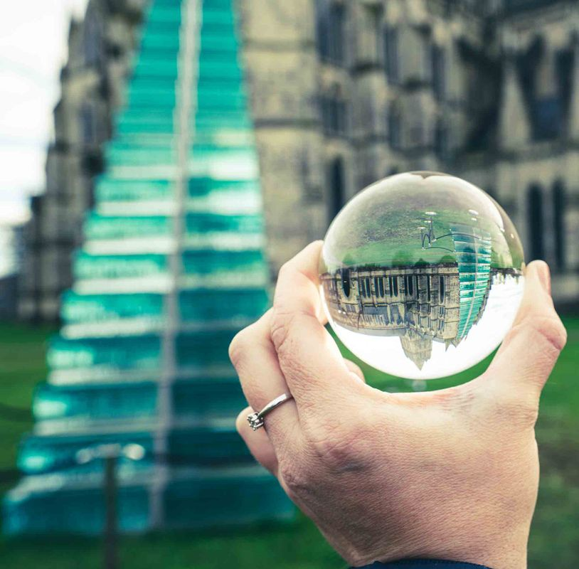 Art and glass ball