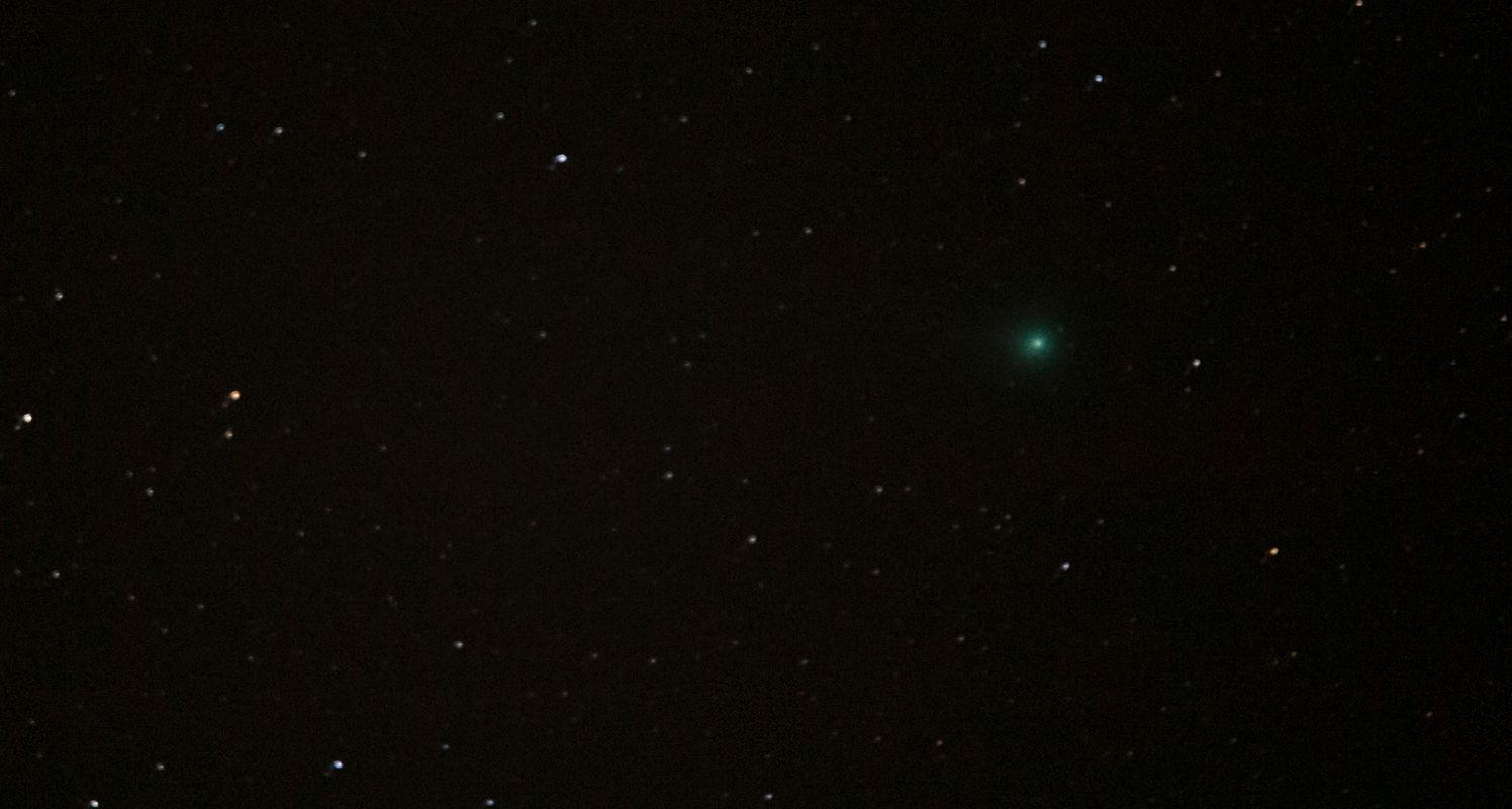A comet i photographed